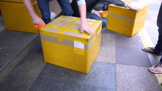 Package wrapping in China