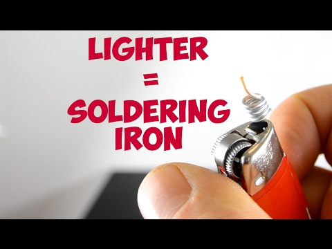 Soldering Iron out of a Lighter