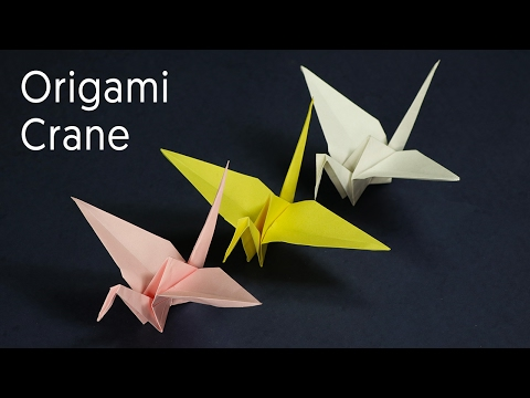 Origami Crane - Kids Origami Paper Crane Craft Tutorial