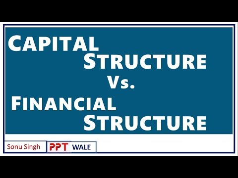 CAPITAL STRUCTURE VS FINANCIAL STRUCTURE IN HINDI | Difference | FM | BBA/MBA/Bcom | ppt