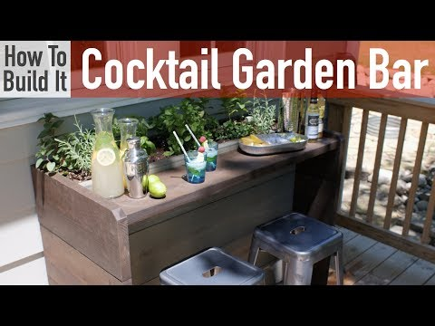 How to Build a Cocktail Garden Bar