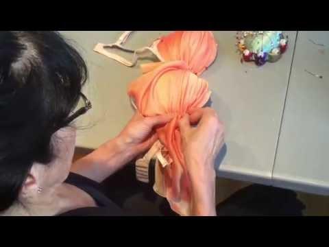 WLW Bra Embellishment 1 - Pinning Fabric On Bra