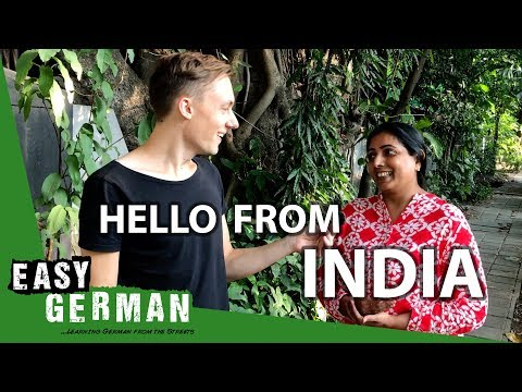 Manuel says Hello from India | Easy German 220