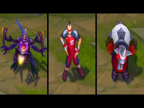 NEW SKINS - Dark Star Cho'gath - Play Maker Lee Sin - Sweeper Rammus Teaser Trailer - League Skins