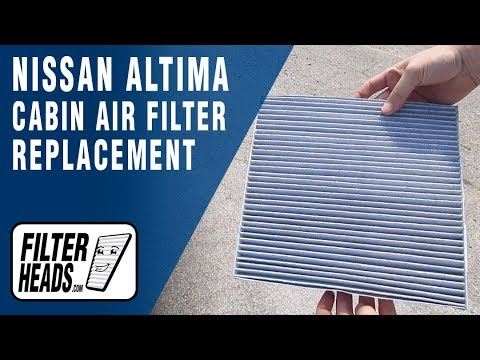How to Replace Cabin Air Filter 2007 Nissan Altima