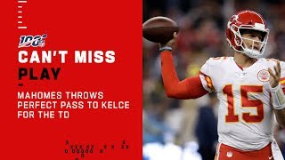 Mahomes Drops Perfect Pass to Kelce for TD
