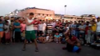 Boxing in Jemaa el-Fnaa Marrakesh, Morocco