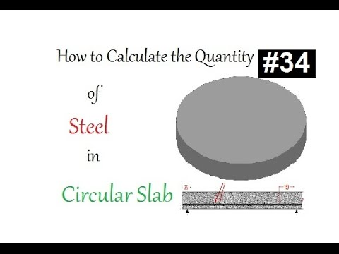 How to calculate the quantity of steel in a circular slab in Urdu/Hndi