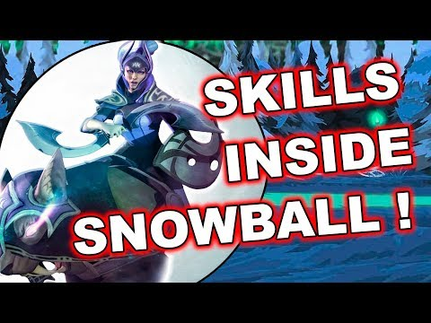 Dota 2 Tricks: SKILLS INSIDE TUSK SNOWBALL!