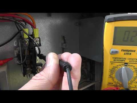 Low voltage check at a Phoenix AZ contactor coil (24V) by thermal-medics.com