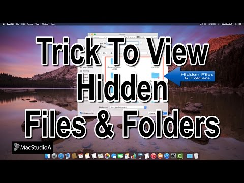 How To Show Hidden Files and Folders in Mac OS X Using Cool Trick