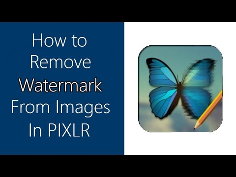 How To Remove Watermark From Images in PIXLR EDITOR
