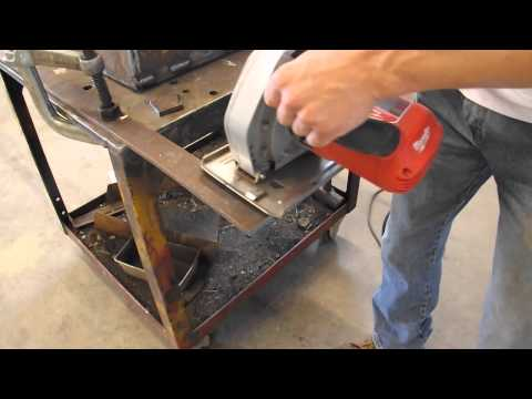 Cutting metal with a blade for wood? (Using a dry cut saw!)