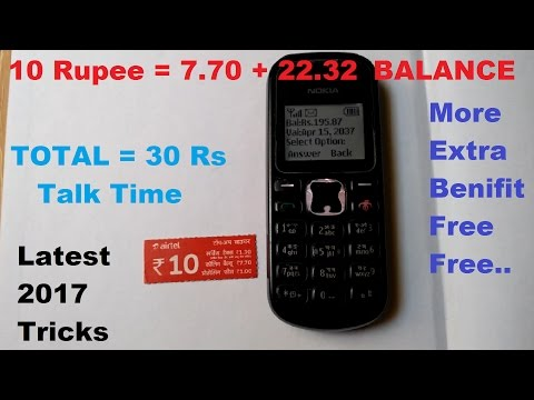 All SIM Recharge 10 Rs and get 30 Rs talktime tricks 2017 [ EXPIRED NOW]