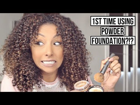 My 1st Time Using Powder Foundation! Bare Minerals Matte! | BiancaReneeToday