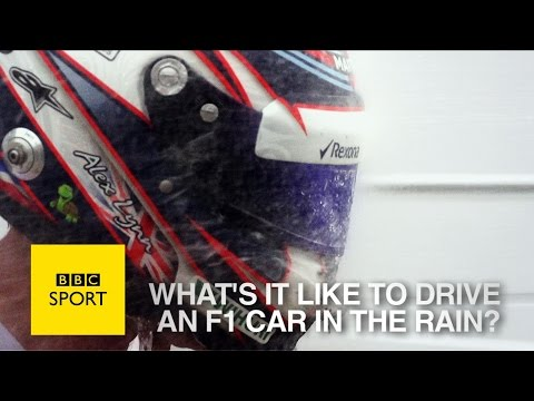 Formula 1: What's it like to drive a car in the rain? - BBC Sport