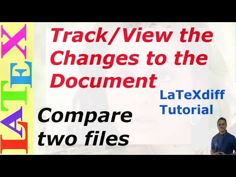 How to Track the Changes Made to the Document | LaTeXdiff | (LaTeX: Tips/Solution-32)