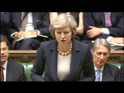 Theresa May's first PMQs: 20 July 2016