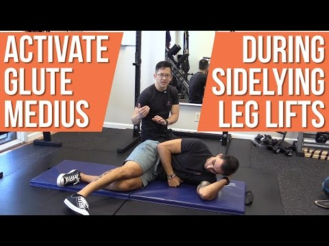 Can't activate glute medius during sidelying leg lifts