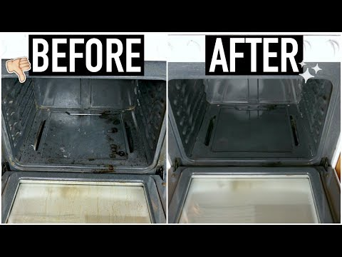 HOW TO CLEAN YOUR OVEN WITH BAKING SODA + VINEGAR || UPDATED
