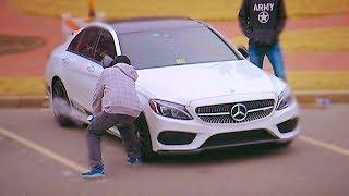 Slashing Car Tires Prank