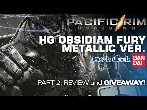Bandai HG Pacific Rim Uprising Obsidian Fury Metallic Ver. 2: Review & GIVEAWAY