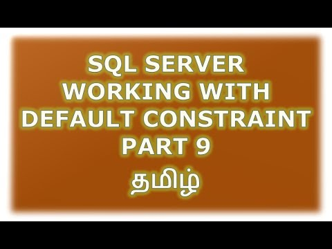 Create, Alter, Drop default constraint in SQL Server - Part 9 Tamil