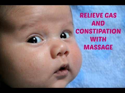 Simple Massage to Relieve Gas/Constipation in Babies (feat. Newborn Titus!)