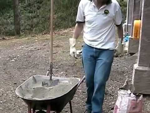 How to make good mortar for retaining walls