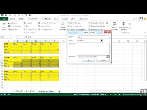 Microsoft Excel 2013 Tutorial | Making Use Of Named Cells And Ranges