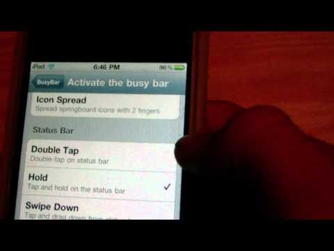 'BusyBar' Jailbreak Tweak Places Your Apps on Hold