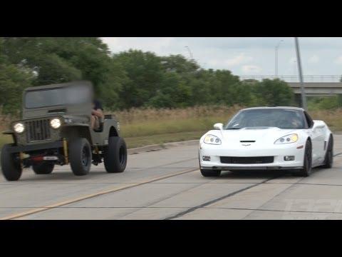 ZR-1 Corvette vs LSx Willy's Jeep