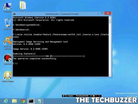 How to fix .NET Framework 3.5 for Windows 8/8.1 error (0x800F0906) Solved