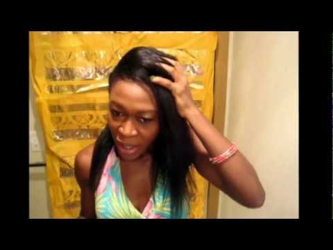 How to Side part Hairstyle (Relaxed hair or Texlaxed hair)