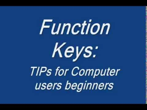 How to use function keys Tips for Computer beginners YTV 41