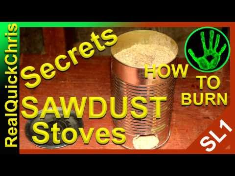 The Secret  of how to burn sawdust with a sawdust stove