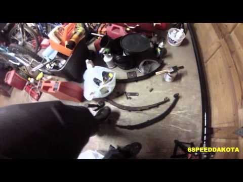 Replacing the trailer axle and springs on the Glasspar trailer