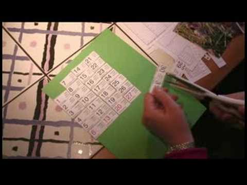 How to Make a Personalized Calendar : How to Make a Calendar: Folding Paper