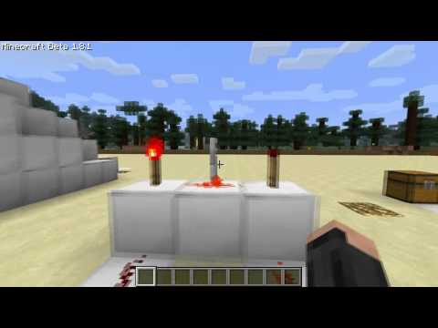 Minecraft tutorial: redstone, AND and NAND gates