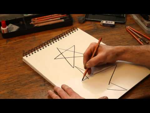 How to Draw a Five-Point Star Using a Two-Point Perspective