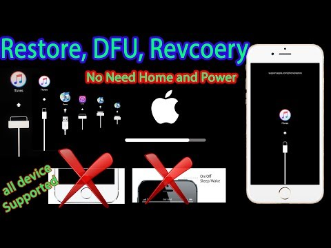 Restore /DFU iPhone without home and Power button iPhone 7/ 6 Plus/6s/6/5S/5C/5/4S/4/3GS/iPad/iPod