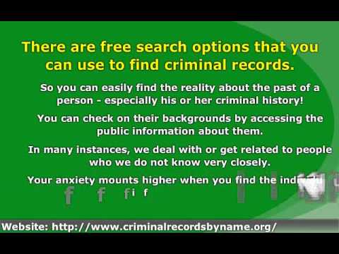 Looking for Criminal Records Online? - Learn How to Get Inst