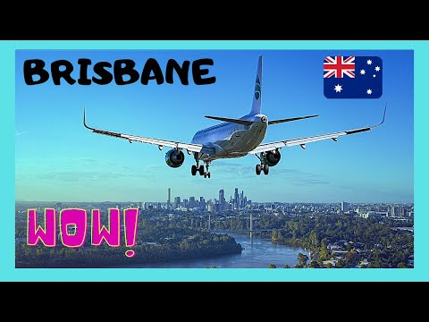 BRISBANE, take-off from the International Airport, beautiful views (Australia)