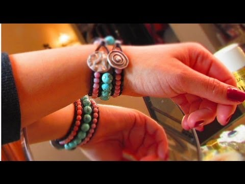 Chic Beaded Cuff Bracelet - 3 row - DIY