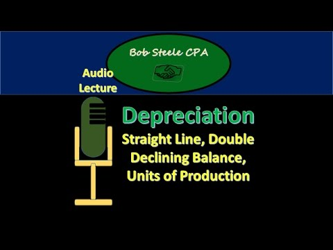 1000.10-Depreciation-Straight Line, Double Declining Balance, Units of Production