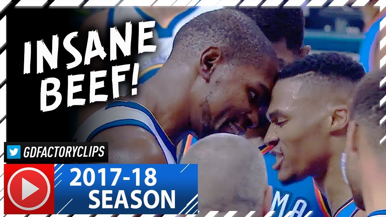 Russell Westbrook vs Kevin Durant INSANE BEEF Duel Highlights (2017.11.22) - Westbrook DESTROYS KD!