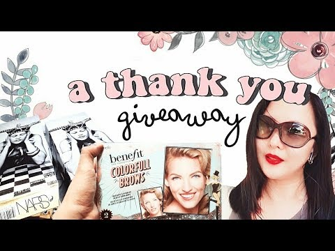 🐣here's a thank you giveaway (benefit, nars, tarte makeup!) OPEN INTERNATIONAL* TheWickeRmoss