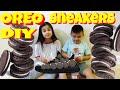DIY OREO SNEAKERS! Walking on COOKIES! MARSHMALLOW FLUFF FEET! ok4kidstv video 60