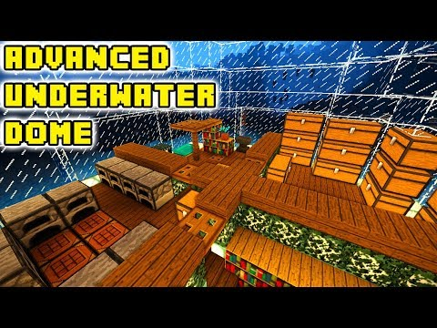 Advanced Underwater Minecraft Dome House (How to Build)