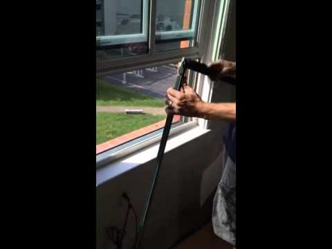 How to put your window screens back in..
